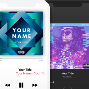 Match your music release with great looking cover art!
